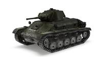 3D tank t-70 light model