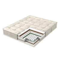 3D model mattress structure bed