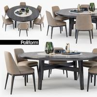 3D model poliform sophie chair home
