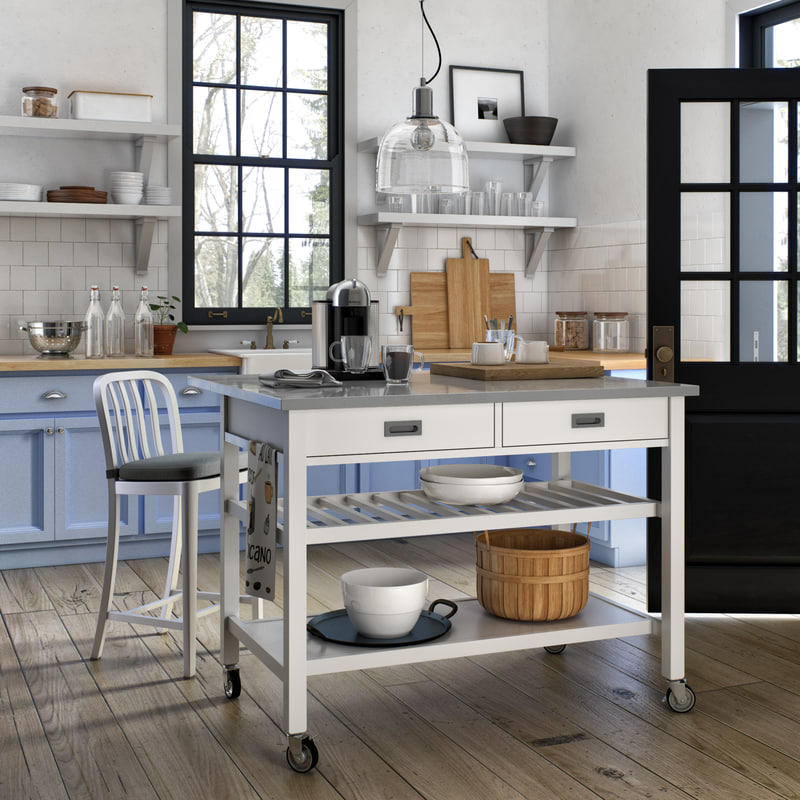3D crate barrel kitchen