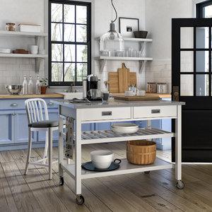 3D crate barrel kitchen