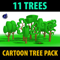 Cartoon tress