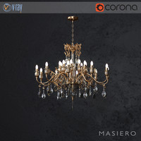3D chandelier masiero curli 10 model