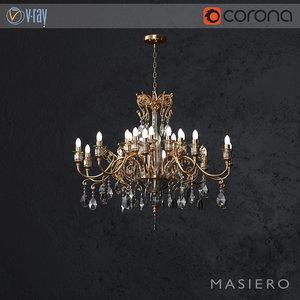 3D chandelier masiero curli 10 model