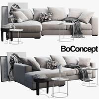 boconcept cenova sofa tables 3D