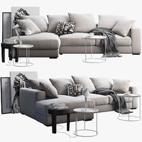 boconcept cenova sofa tables 3D