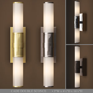 cade double sconce model