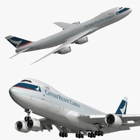 boeing cathay pacific cargo 3D model