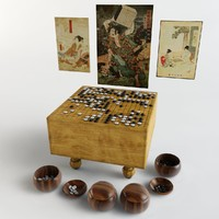 Go (Baduk) board game set