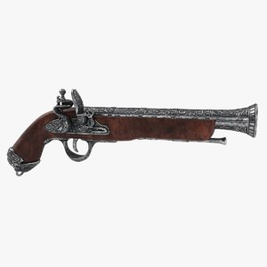 blunderbuss flintlock pistol 3D model