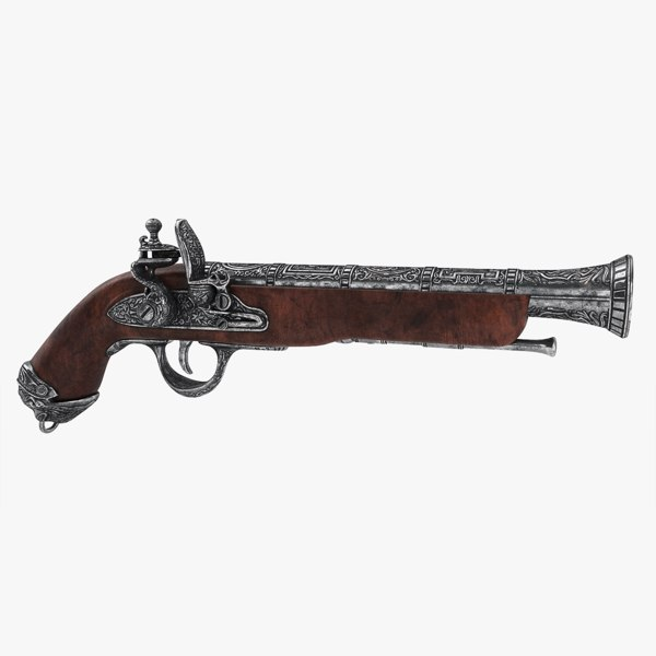 blunderbuss flintlock pistol 3D model