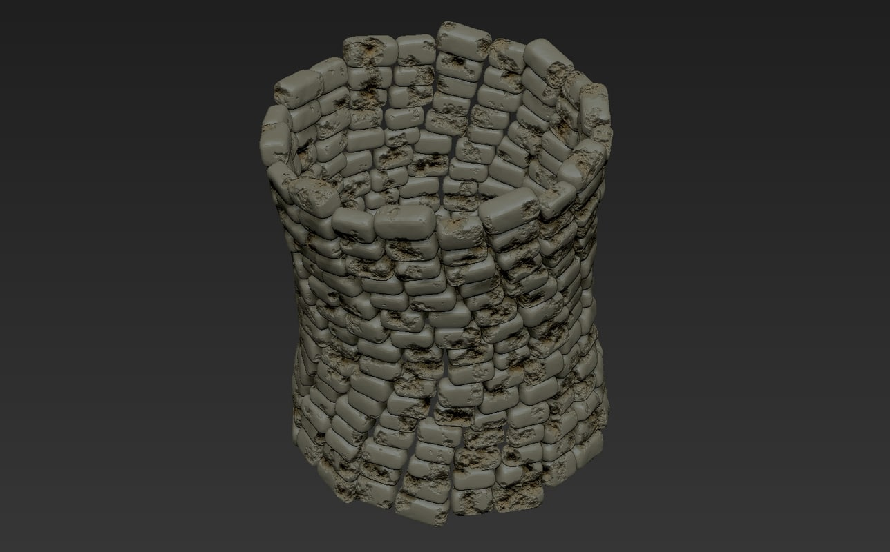 ruin building 3D