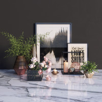 Modern decor set