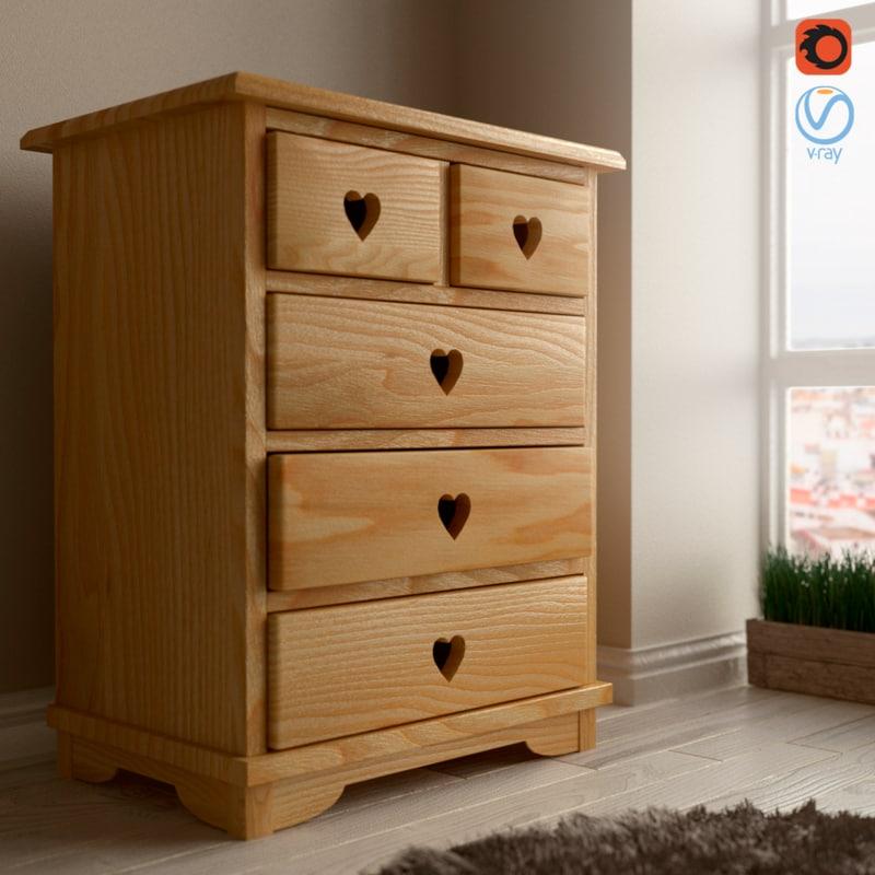 sideboard interior bedroom 3D model