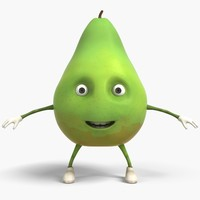 3D pear cartoon model