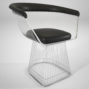 warren platner dining chair 3D model