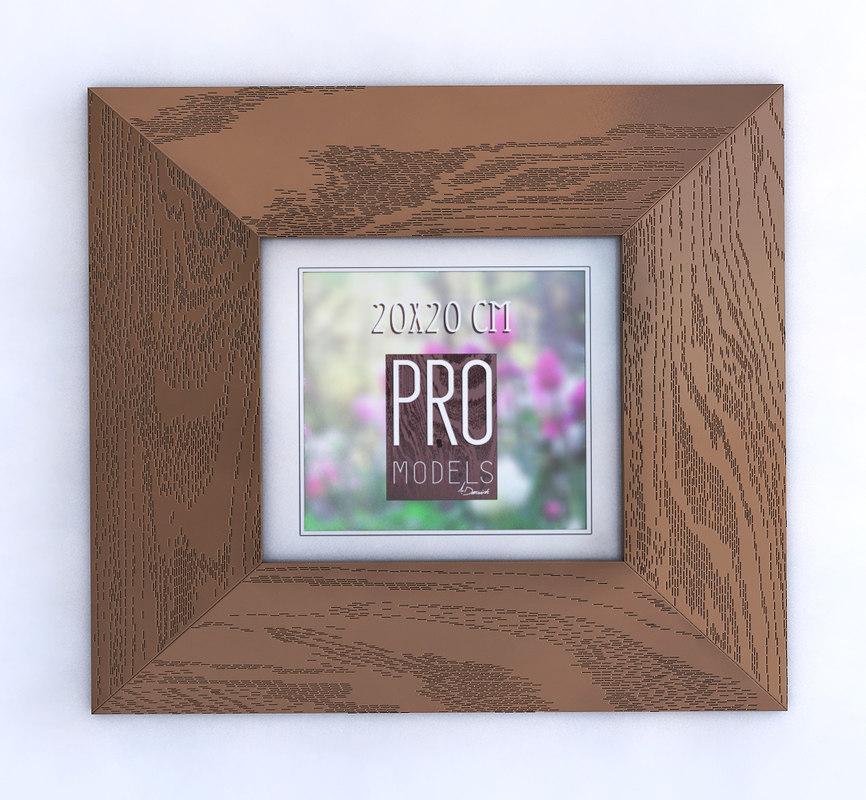 3D model wood picture frame