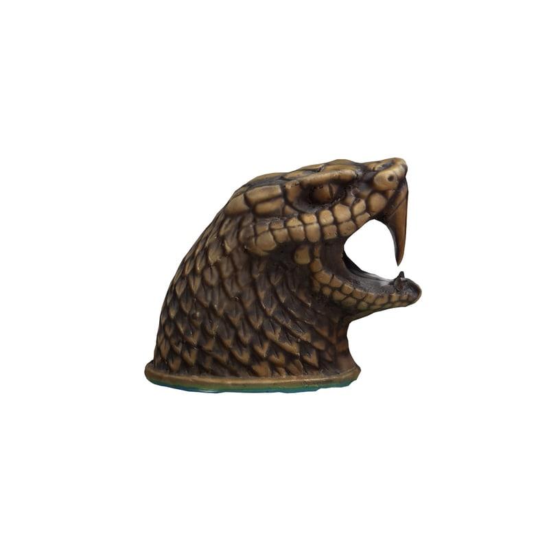 3D bronze snake model