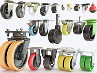 3D furniture castors