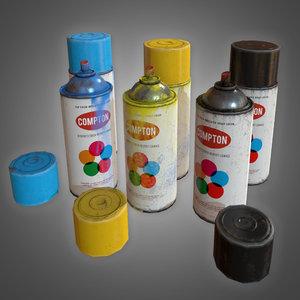 spray set - pbr 3D model