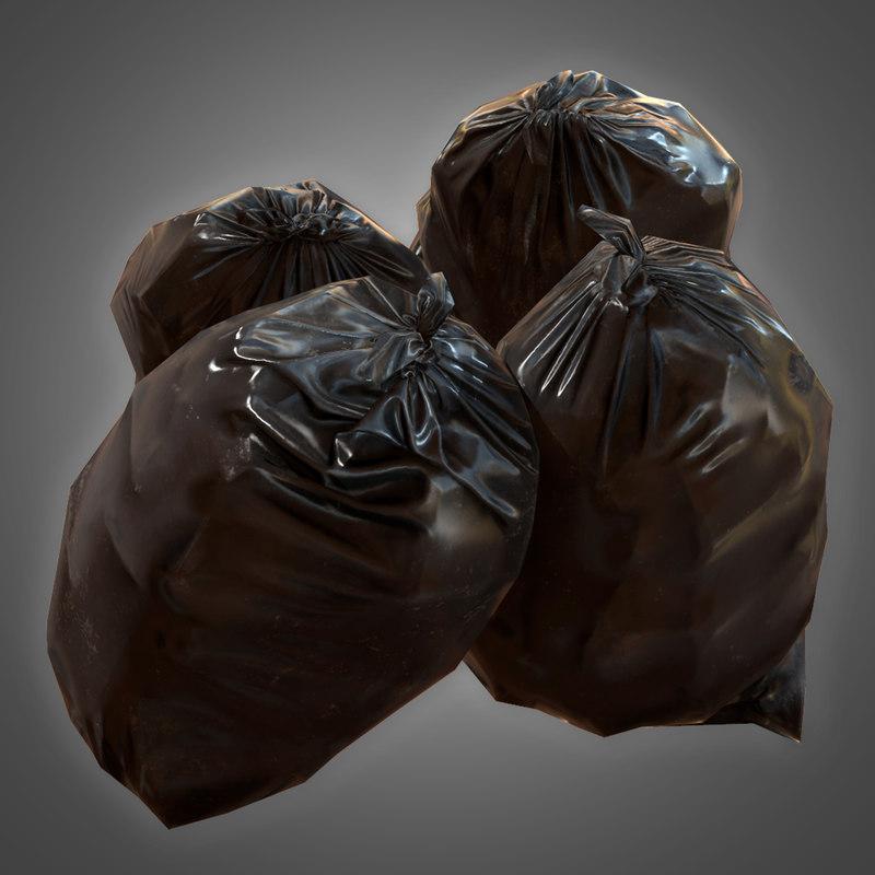 3D trashbag set 1 - model