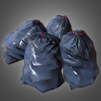 trashbag set pbr ready 3D model