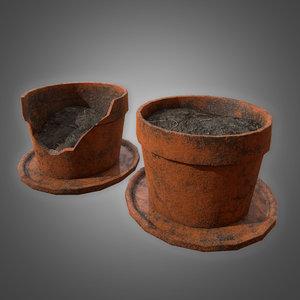 3D planter pot set -