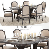 set hookers corsica dining table 3D model