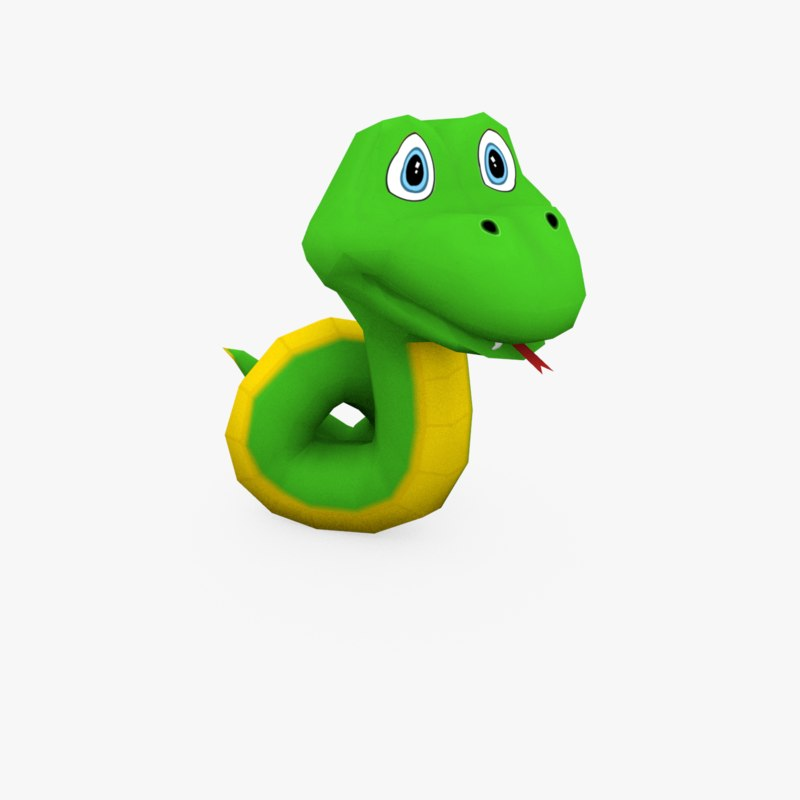 snake cartoon 3D model