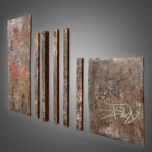old plywood set - 3D
