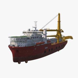 3D multipurpose crane vessel