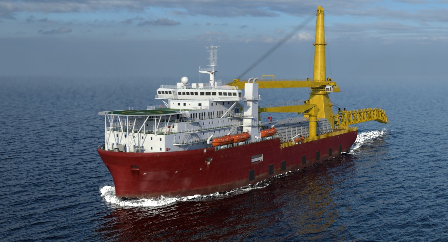 3D multipurpose crane vessel