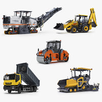 3D public works machines 3cx model
