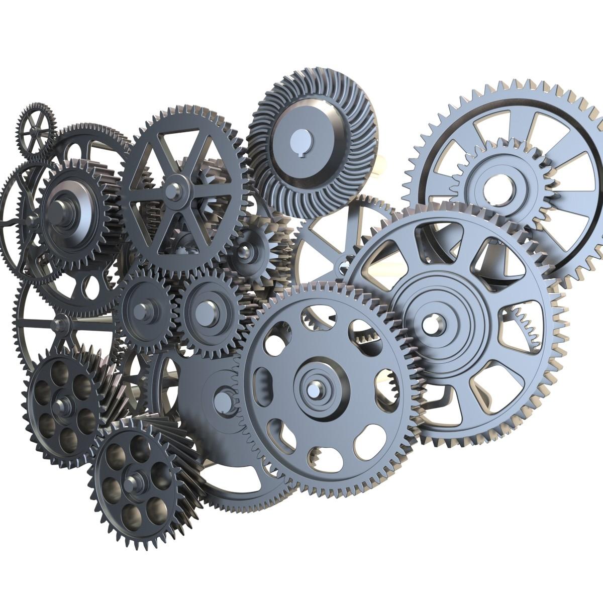 3D model gear mechanism set