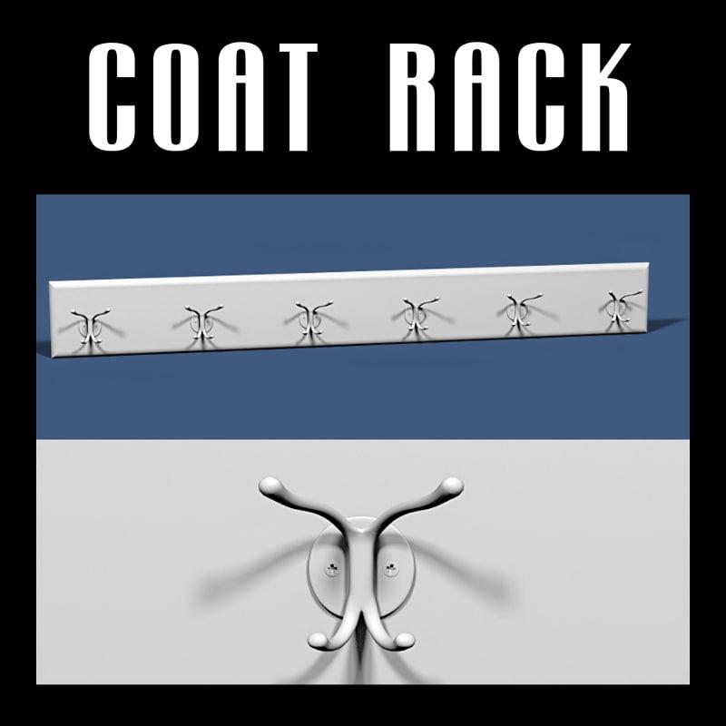 wall coat rack 3D