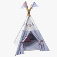 3D kids play tents