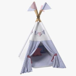 3D kids play tents