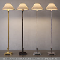 petite candlestick table lamp 3D model