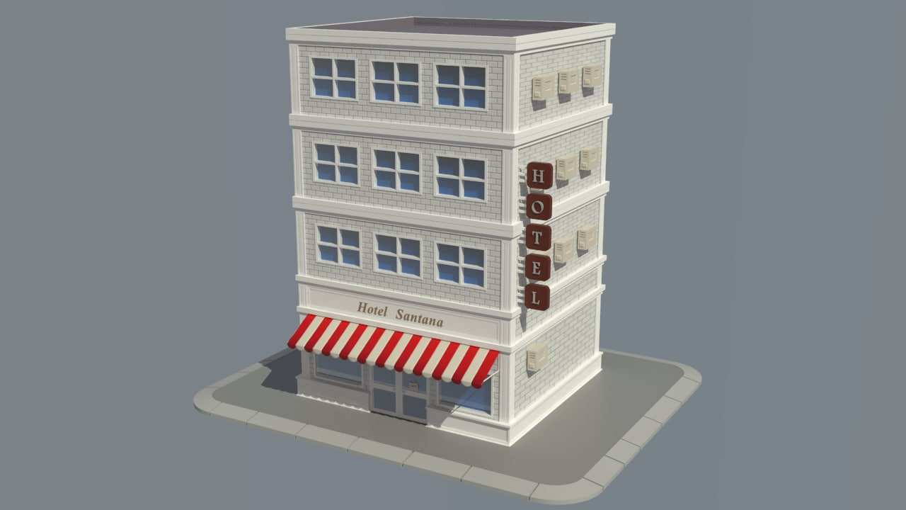 store cartoon model