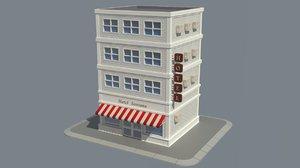 store cartoon model