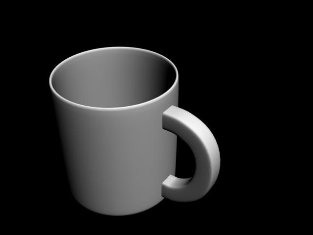 porcelain cup 3D model