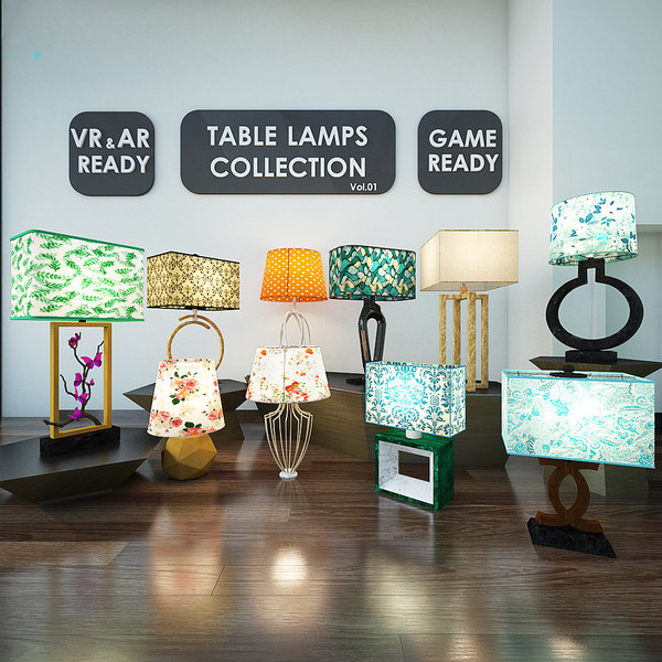 table lamps games 01 3D model