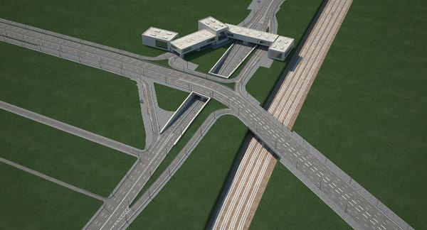 highway road junction model