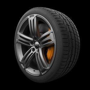 3D model volkswagen rim tire