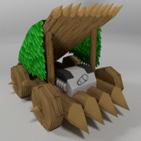 3D stylized babarian car