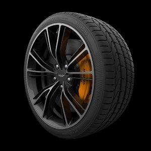 3D aston martin vanquish rim tire