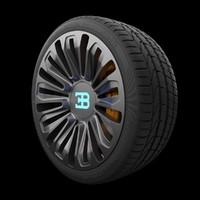 3D bugatti galibier rim tire model