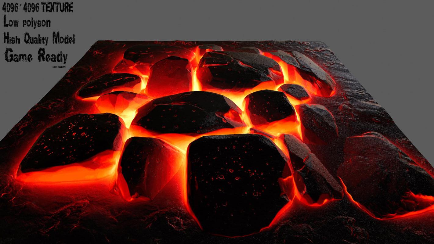 3D model lava rock