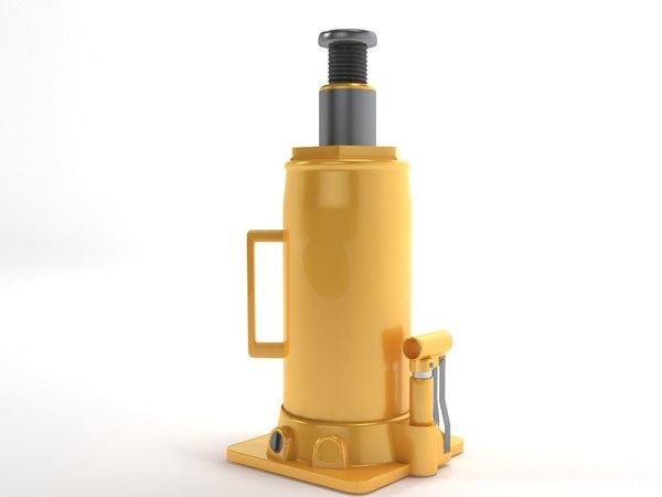 bottle jack 3D model