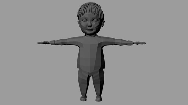 baby character model